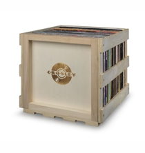 Stackable Record Storage Crate - Natural
