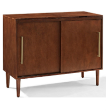 Crosley Everett Media Console - Vintage Mahogany