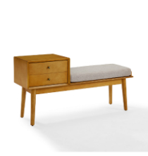 Landon Turntable Bench - Acorn