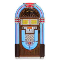 iJuke Bluetooth Deluxe Full Size Jukebox -  Walnut