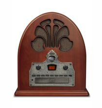 Cathedral Tabletop Radio CD Player w/Bluetooth - Paprika