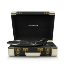Executive Deluxe Portable USB Turntable - Black/White