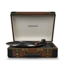 Executive Deluxe Portable USB Turntable - Brown