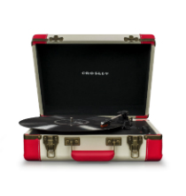 Executive Deluxe Portable USB Turntable - Red & Cream