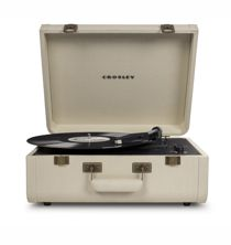 Portfolio Portable Turntable with Bluetooth - Crème