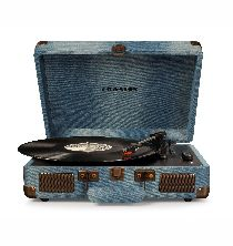 Crosley Cruiser Deluxe Turntable with Bluetooth - Denim