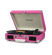 Crosley Cruiser Deluxe Turntable With Bluetooth - Pink Vinyl