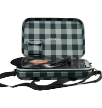 Crosley Messenger - Gray and Black Checkerboard