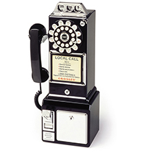 1950's Classic Pay Phone - Black